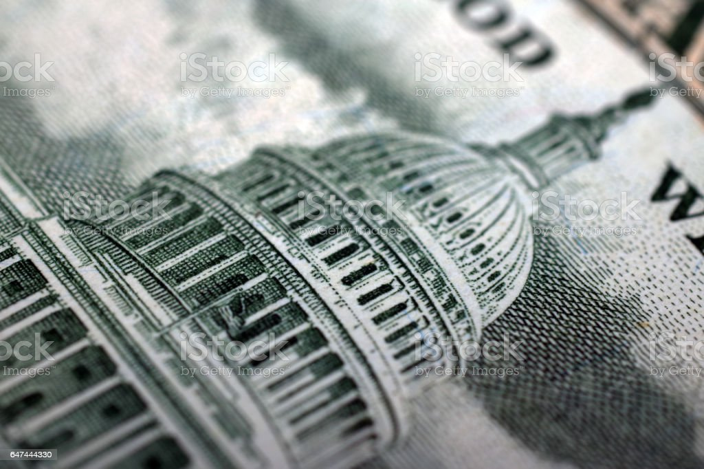 Close up dollar bill stock photo