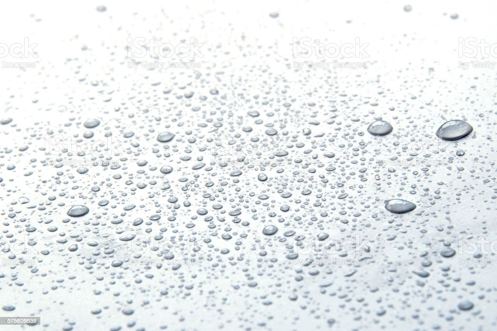 Close up Drop water on white floor royalty-free stock photo