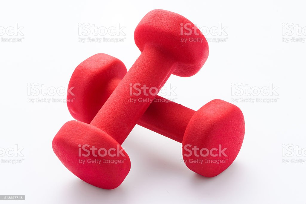 Close up dumbbell stock photo