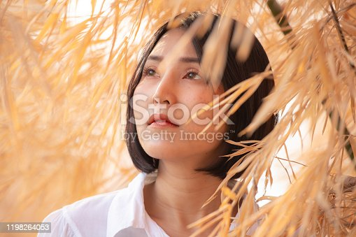 507626888 istock photo Close up face of a asian young beautiful woman. 1198264053
