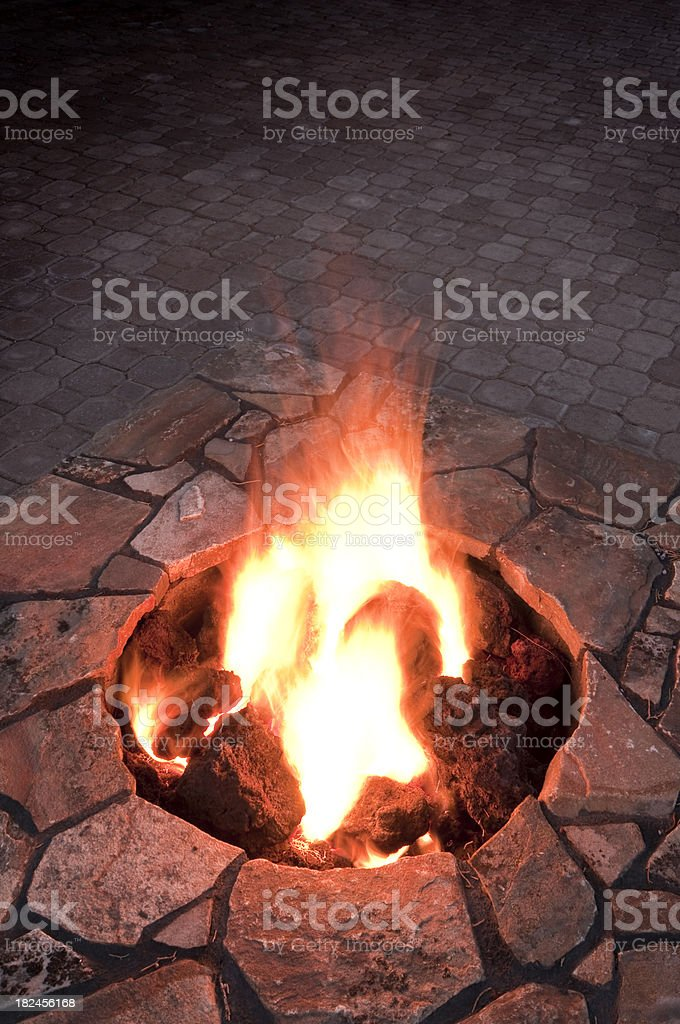 Close up fire pit royalty-free stock photo