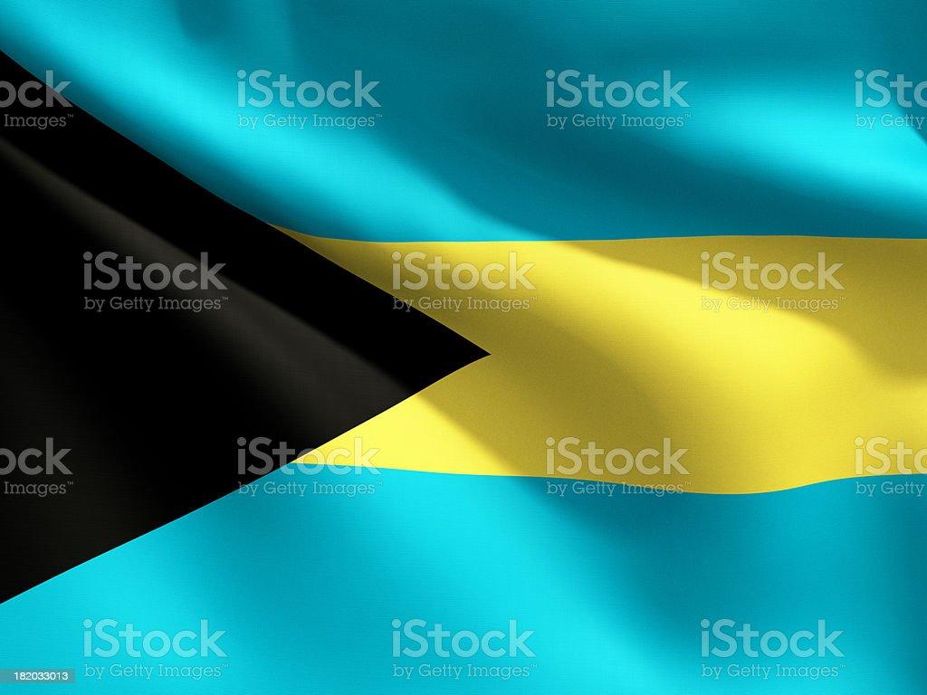 Close Up Flag - Bahamas stock photo