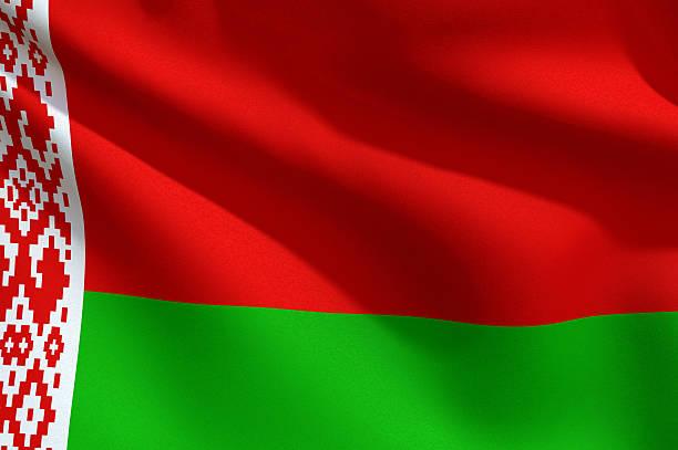 Close Up Flag - Belarus stock photo