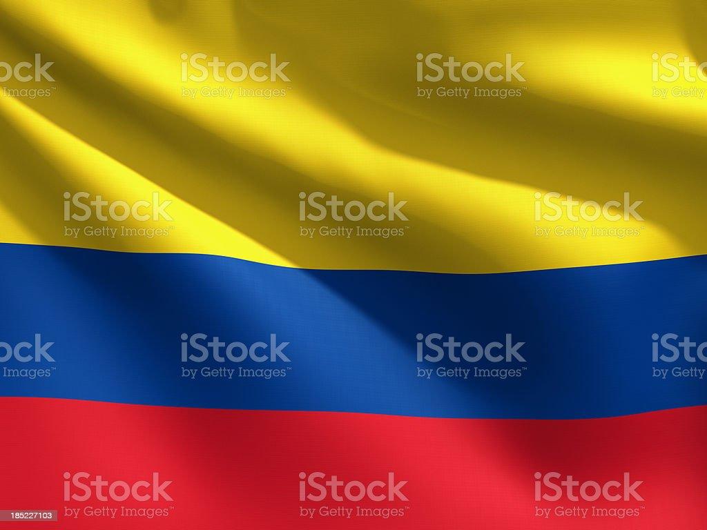 Primer plano de bandera de Colombia - foto de stock