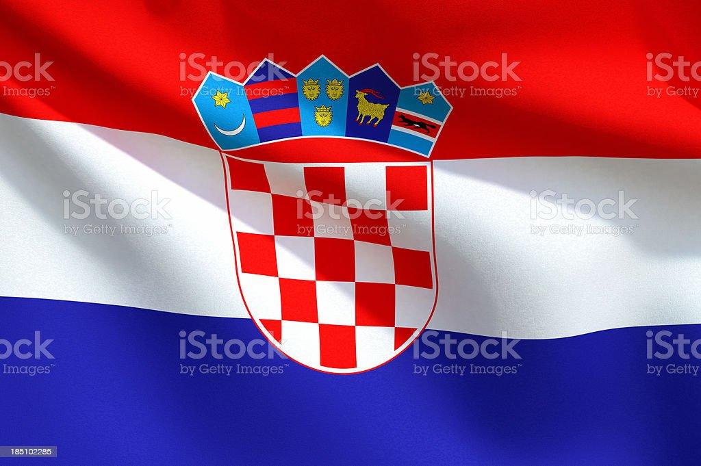 Primo piano della bandiera della Croazia - foto stock
