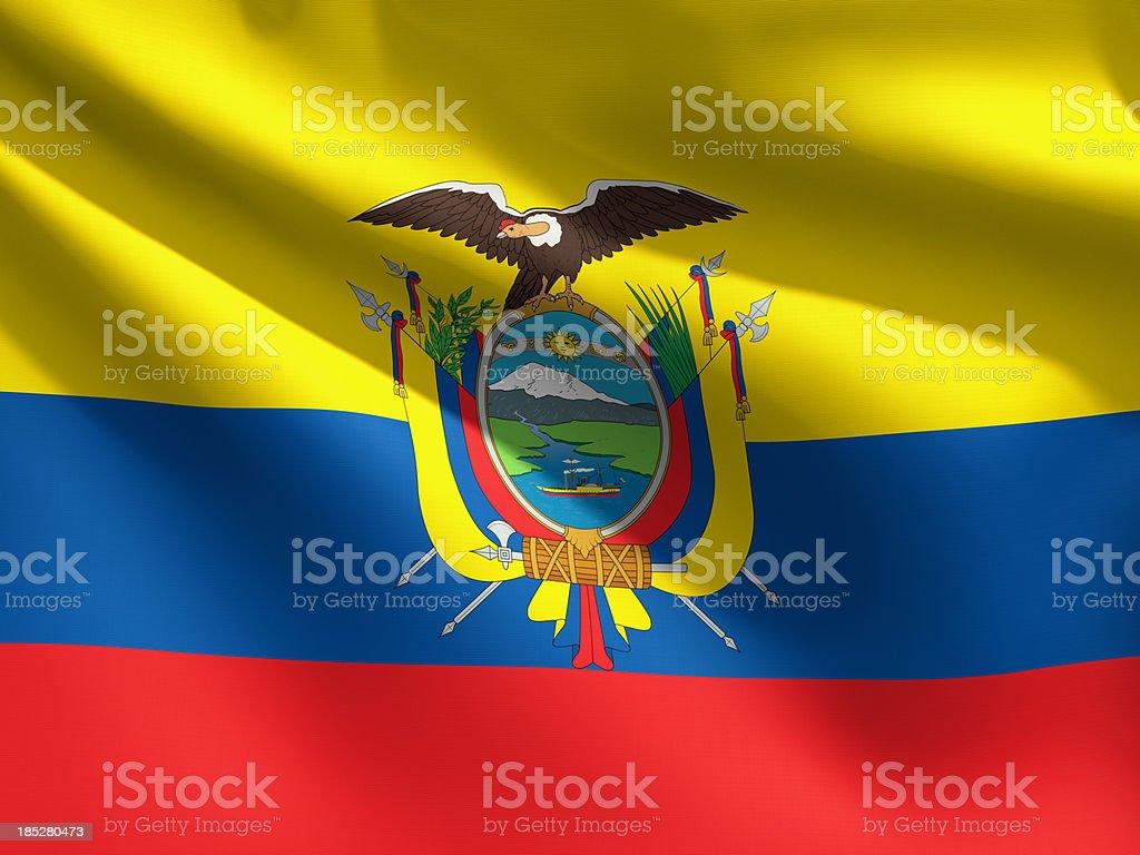 Primer plano de bandera-Ecuador - foto de stock