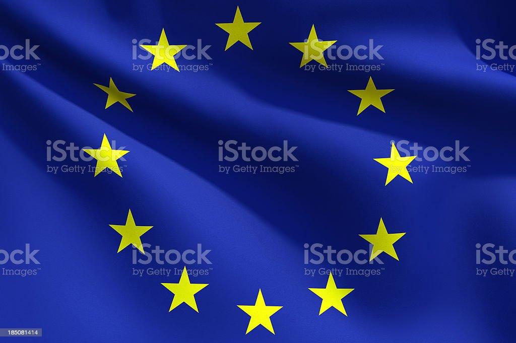 Close up Flag - European Union royalty-free stock photo