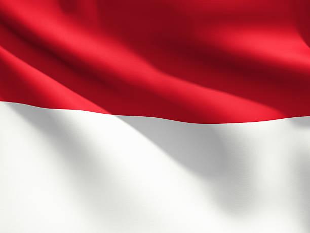 detalhe da bandeira-indonésia - bandeira da indonesia - fotografias e filmes do acervo