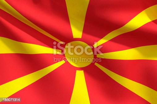 1056280906istockphoto Close Up Flag - Macedonia 185071314