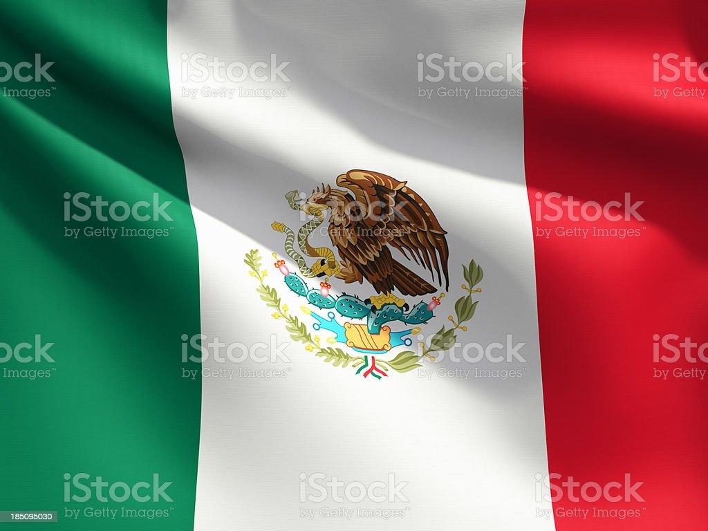 Primer plano de bandera de México - foto de stock