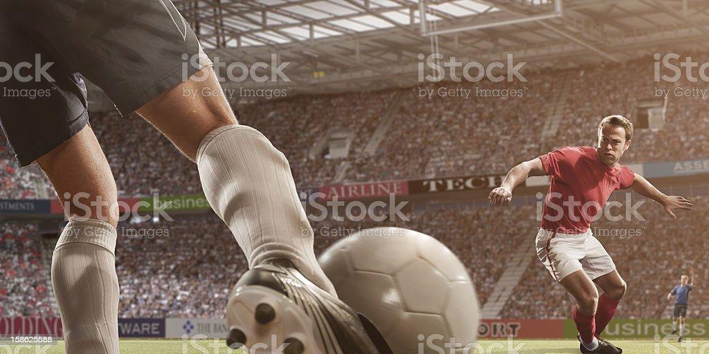 Close Up Football Action royalty-free stock photo