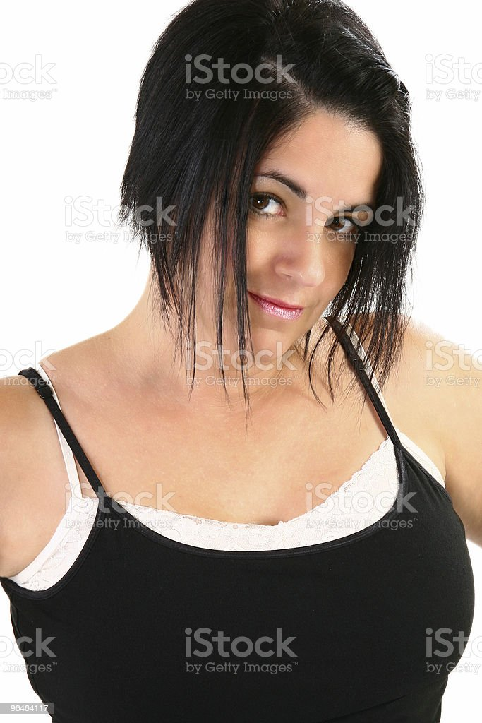 Close up Forty Year Old Brunette royalty-free stock photo