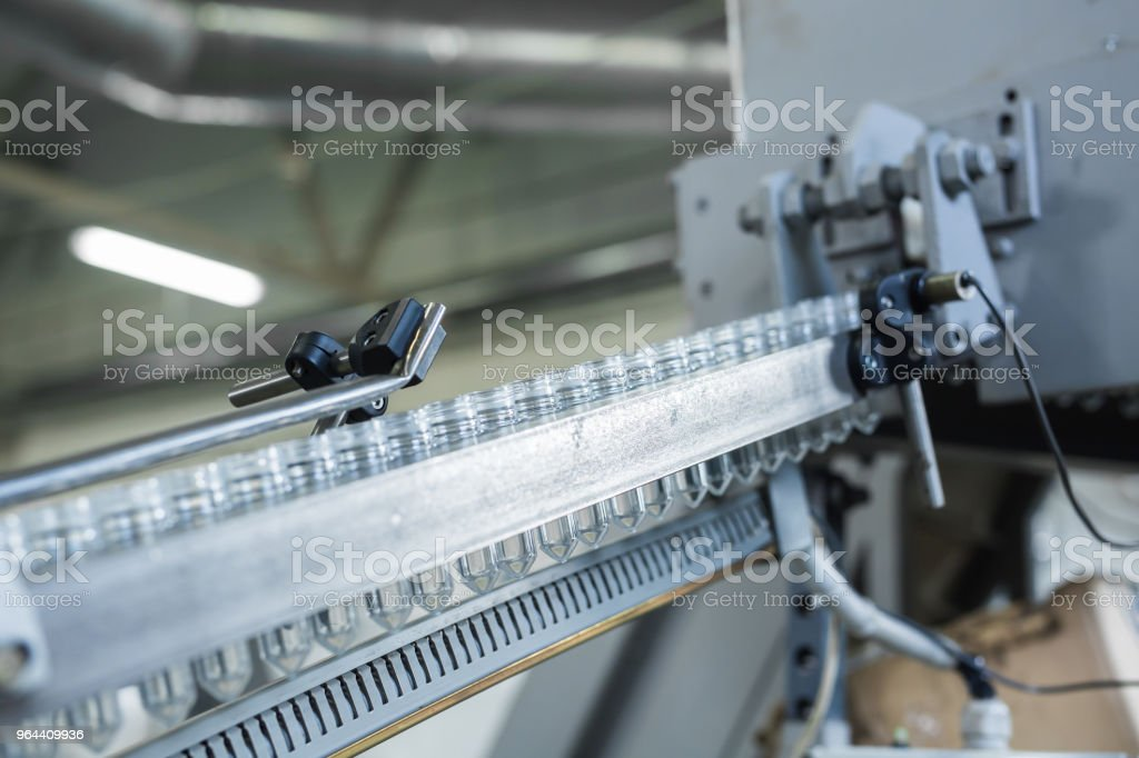 Close up from a bottle industry - Royalty-free Automated Stock Photo