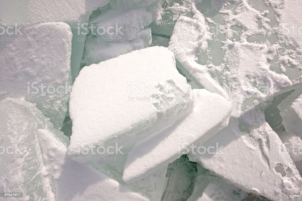 Close up from ice floes in the Netherlands royalty-free stock photo