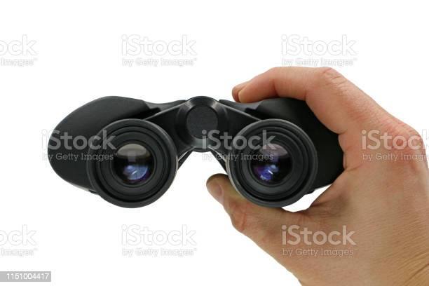 Close up front view of hand holding black binoculars on white picture id1151004417?b=1&k=6&m=1151004417&s=612x612&h=4iyarbfceukxz2anizw0dvwiuzlmjv1qnf dfmap118=