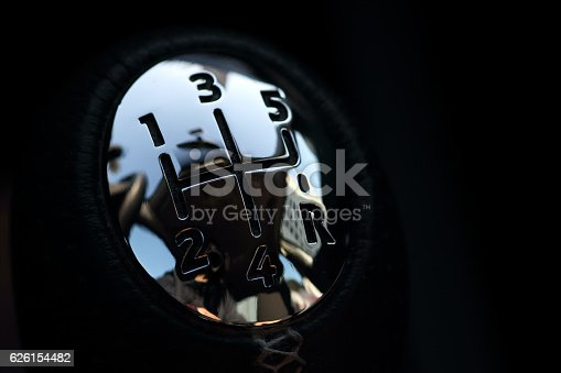 istock Close up Gear Shift 626154482