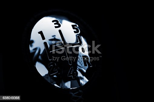 istock Close up Gear Shift 638049368