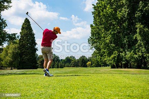 Hitting the perfect golf shot