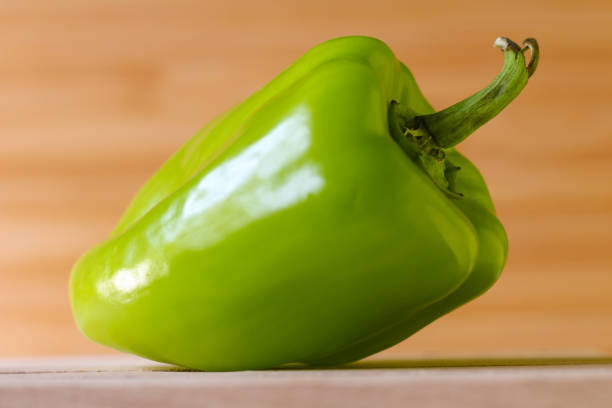 Close up green pepper stock photo