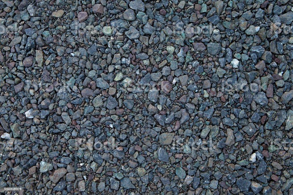 Close up grey granite gravel background. Pebble background Gravel texture. Gravel background. Stones texture. stock photo