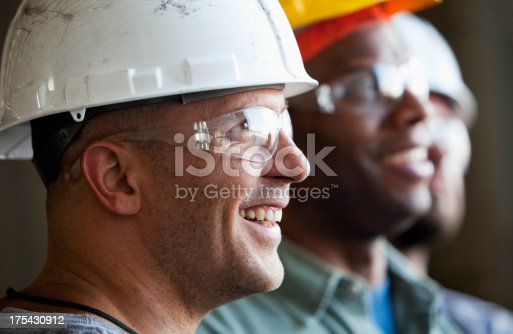 istock Close up group of construction workers 175430912