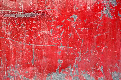 close up grunge metal plate surface of steel door
