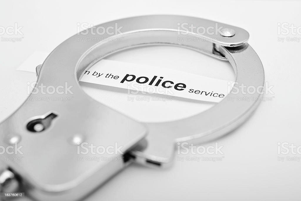close up handcuff stock photo
