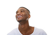 istock Close up happy young african american man laughing 522838293