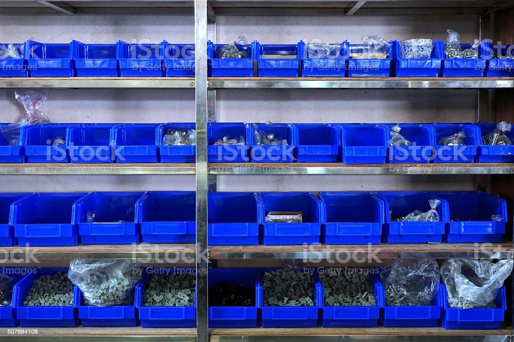 close up hardware shelf stock photo