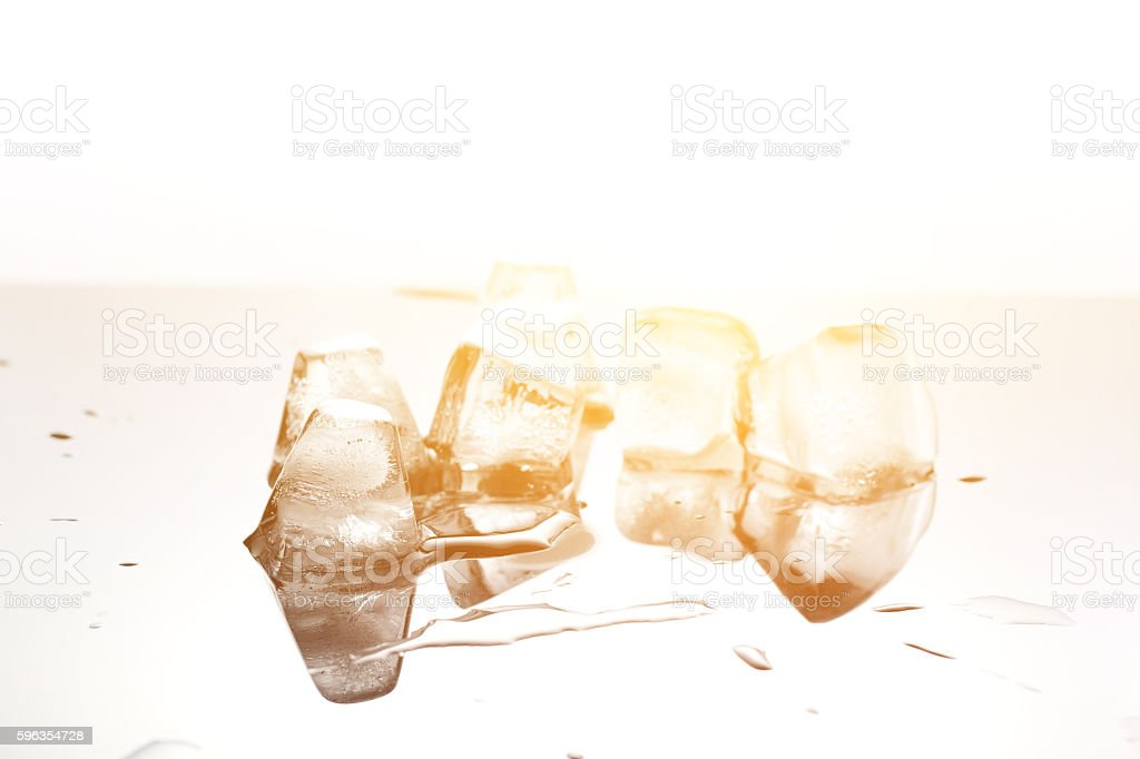 close up ice cubes,concept melt and warming royalty-free stock photo