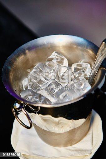 1073474208istockphoto Close up ice in metal bucket 916376046