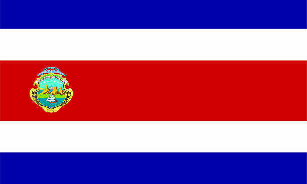Bandera costarricense - foto de stock