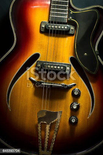 istock Close up image of electric guitar. 645393704