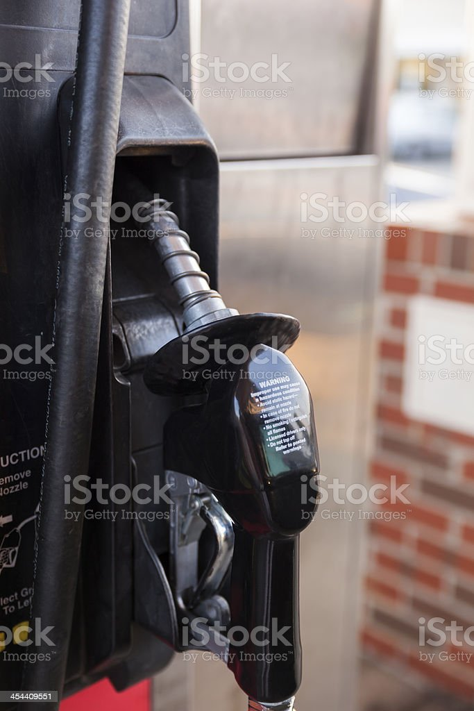 Close Up Image of Gasoline Pump royalty-free stock photo