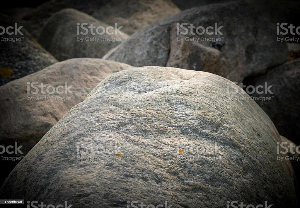Close up image of granite boulders royalty-free stock photo
