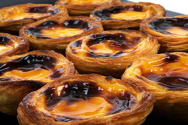 Close up image of Pastel de Nata stock photo