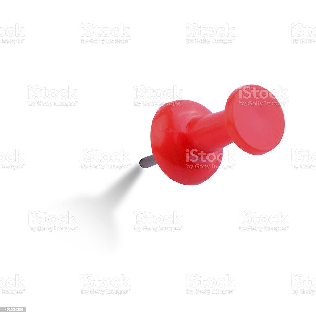 Close up image of red push pin royalty-free stock photo