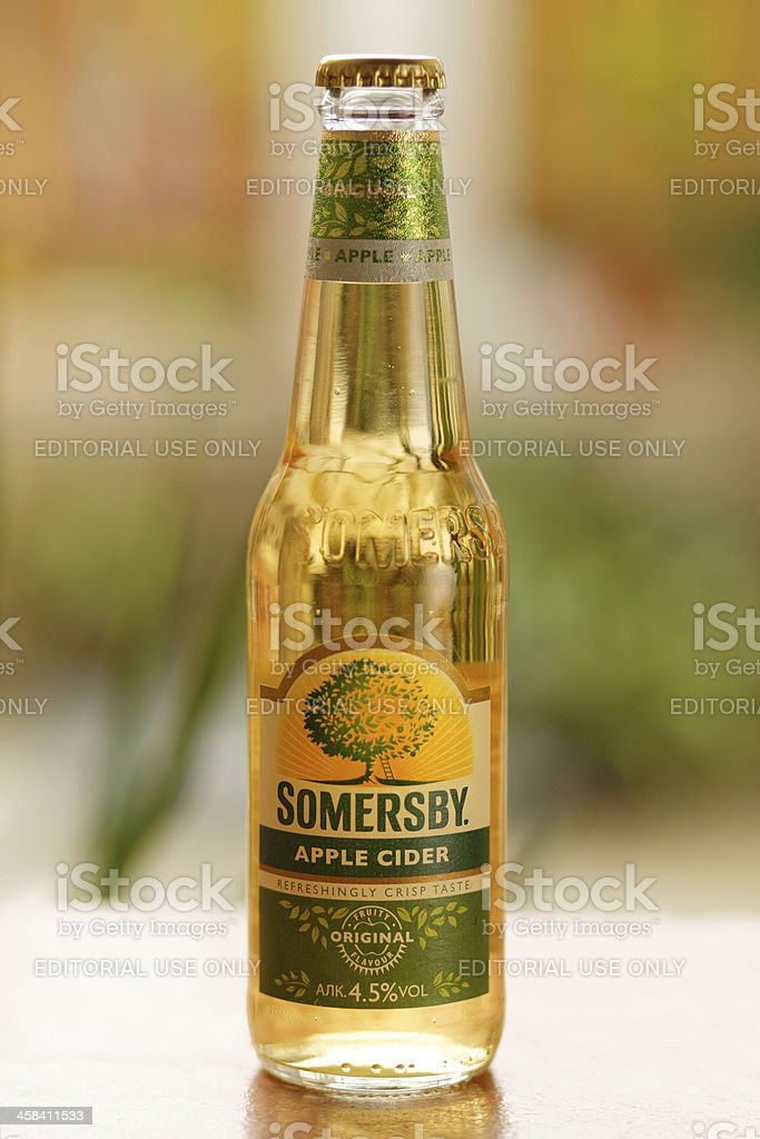 Close up image of Somersby Cider royalty-free stock photo