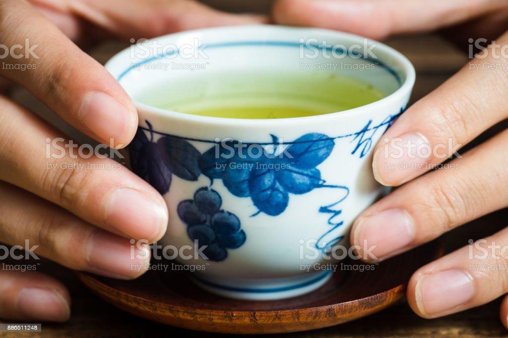 Close up Japanese tea stock photo