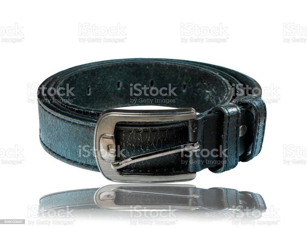 Close up leather belt stock photo