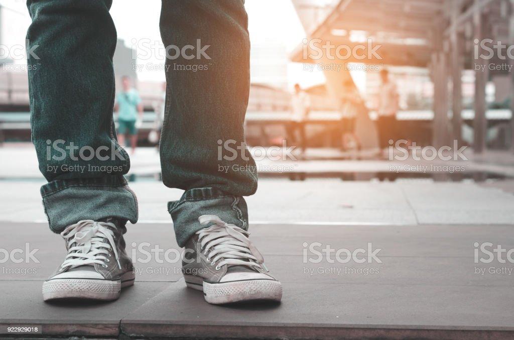 Fotografía de Cerrar Piernas Hombres Casual Vistiendo Pantalones ...