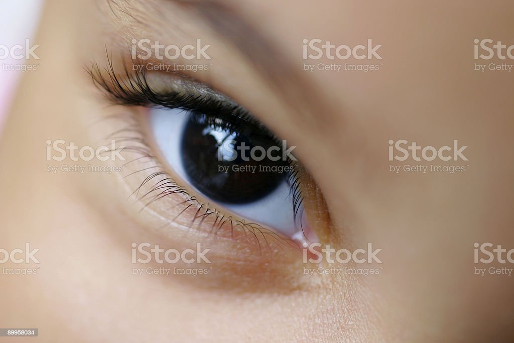 Close Up Macro Photograph Of A Child's Brown Eye royalty-free stock photo