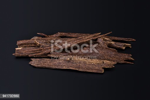 istock Close Up Macro Shot Of Sticks Of Agar Wood Or Agarwood Isolated On Black Background The Incense Chips Used By Burning It Or For Arabian Oud Oils Or Bakhoor 941732550
