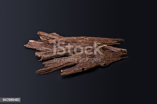 istock Close Up Macro Shot Of Sticks Of Agar Wood Or Agarwood Isolated On Black Background The Incense Chips Used By Burning It Or For Arabian Oud Oils Or Bakhoor 942989482