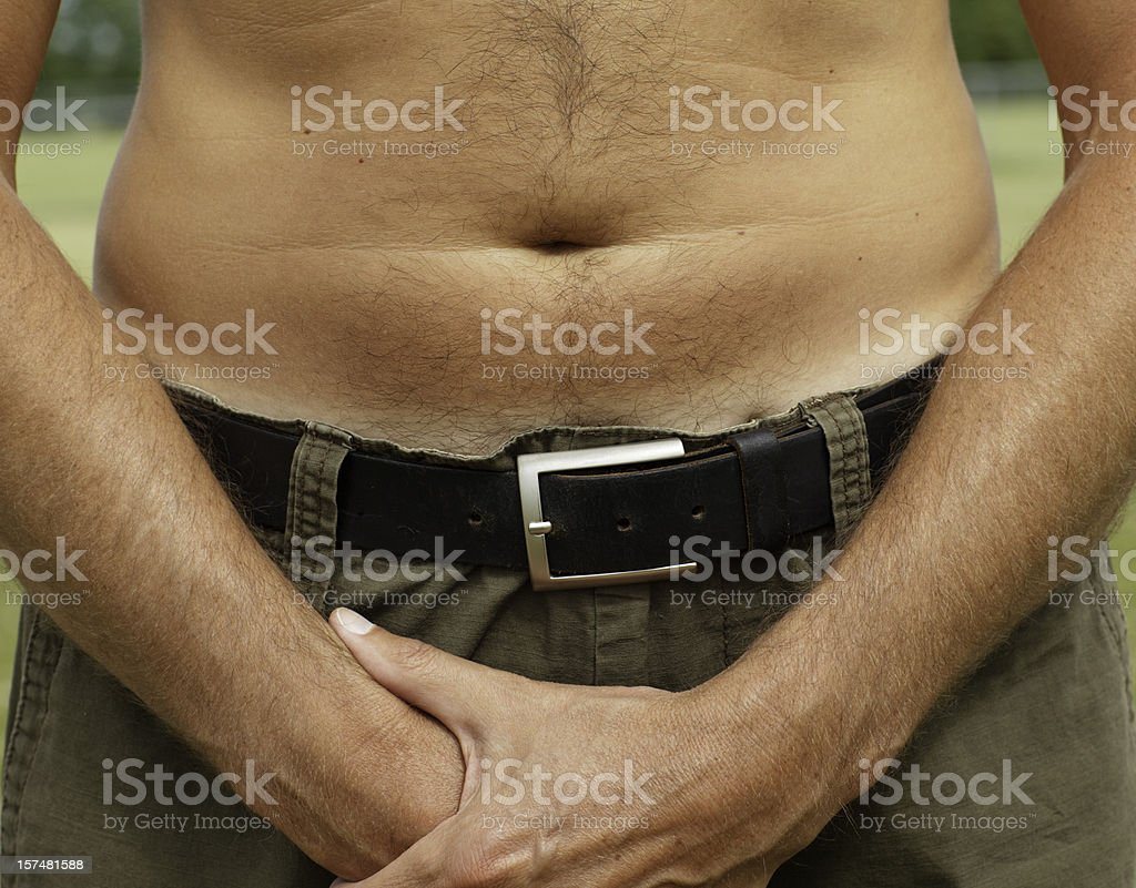 Close up male stomach royalty-free stock photo