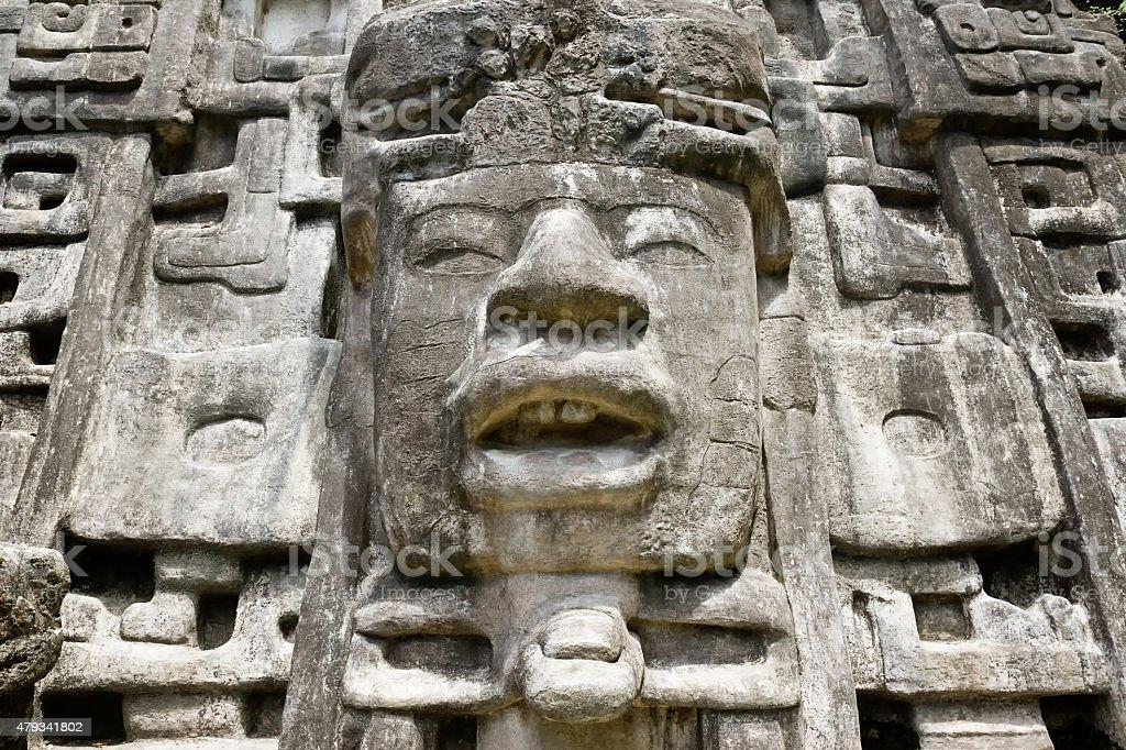 Primer plano de la máscara templo - foto de stock