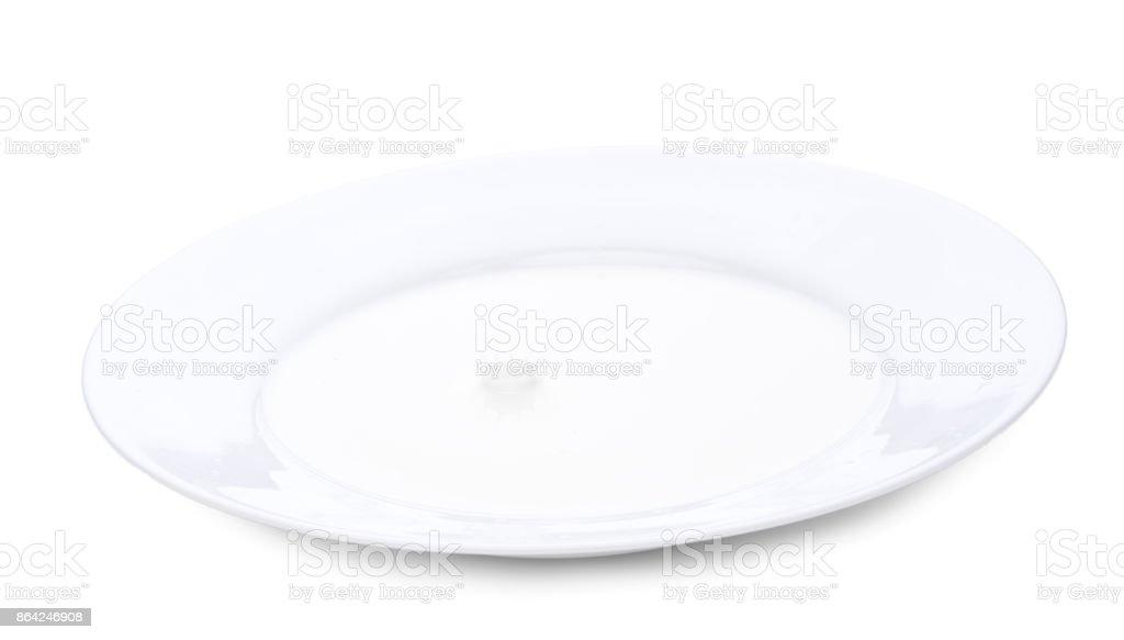 Close up milk splash. Horizontal close-up image, isolated over white royalty-free stock photo