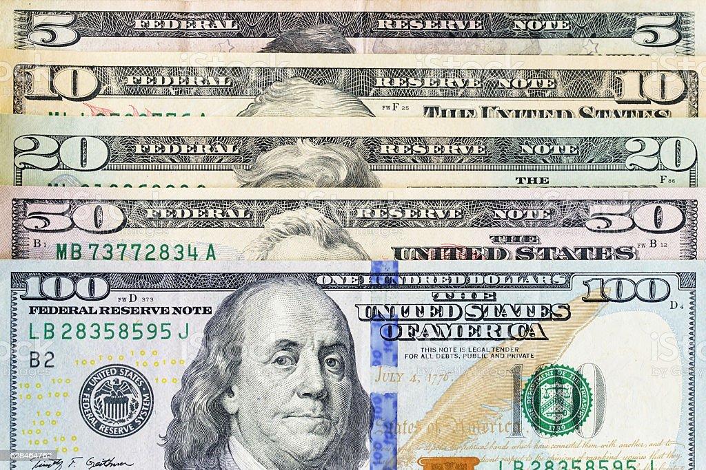 Close up money dollar stock photo