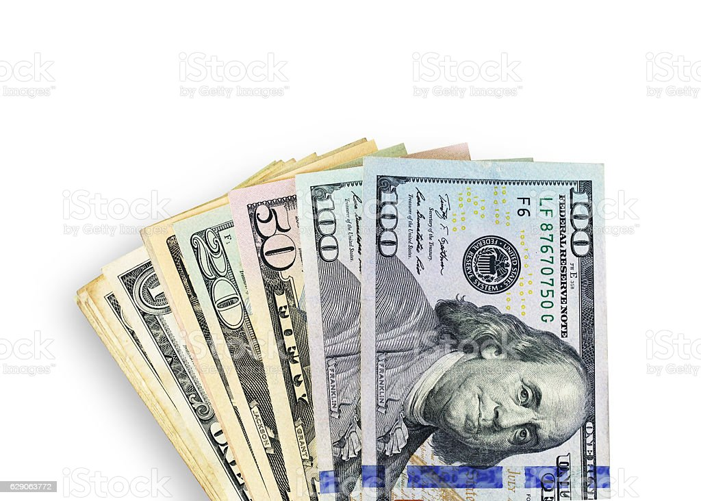 Close up money dollar stock photo