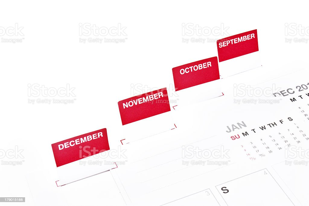 Close up monthly organizer. royalty-free stock photo